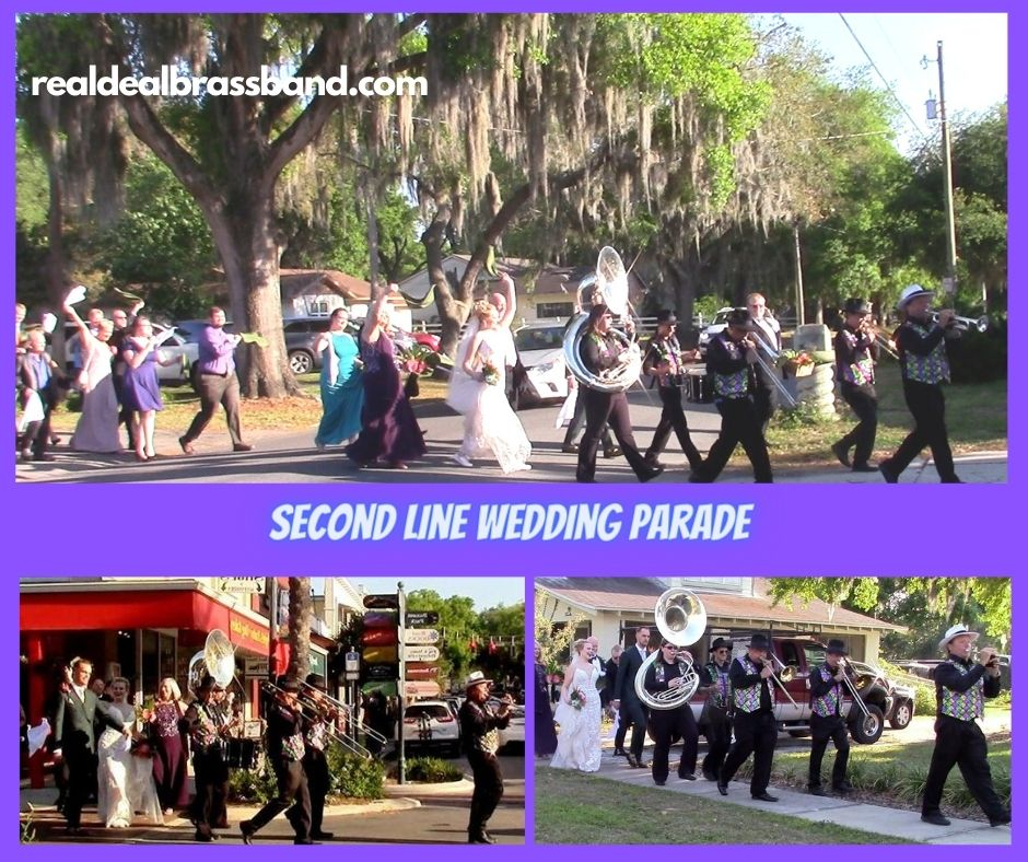 Brass Band Orlando, Second Line Wedding Parade, second Line Wedding, Second Line Brass Band, Brass Band, Wedding Parade, Florida, Orlando, Sarasota, Saint Petersburg, Tampa, Ybor City, Palm Beach, Miami, Marco Island, Boca Raton, Winter Park, Amelia Island, Fort Lauderdale, Vero Beach, Naples, Fort Myers, Real Deal Brass Band